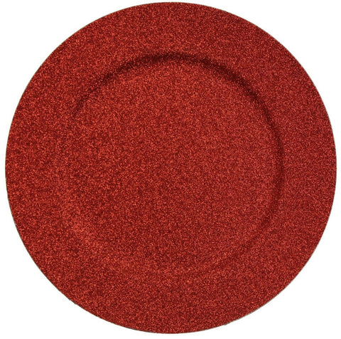 Set of 4 Shimmer Red Charger Plates Under Plates 33cm Premium Christmas Range