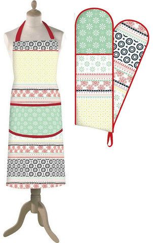 Creative Tops Wanderer Colourful Soft Design Cotton Apron Cotton Oven Gloves
