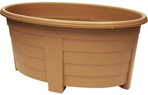 Large 55cm Large Garden Planter Plant Pot Plastic Trough Raised Planter