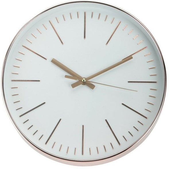 Large 30cm Round Copper Wall Clocks Thick Frame Quartz Mechanics Wall Clock