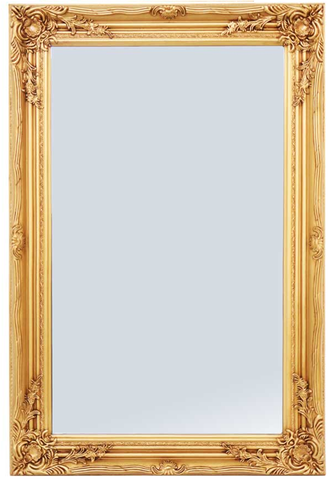 Large Ornate Gold Wall Mirror 60cm x 90cm With Ornate Detail on Frame