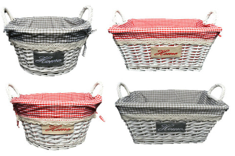 Set of 3 Traditional Lined Christmas Hampers Christmas Baskets Wicker hampers