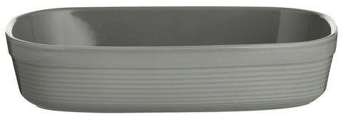 Mason Cash Rippled Large Rectangle Roasting Oven Dish Grey Pie Dish 28cm Dish