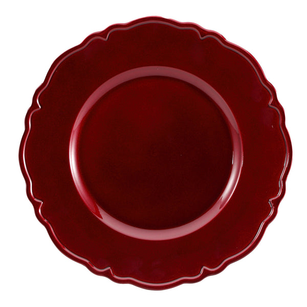 Brunchfield Decorative Smart Dinner Placemat Charger Plate Gold Silver Red Black
