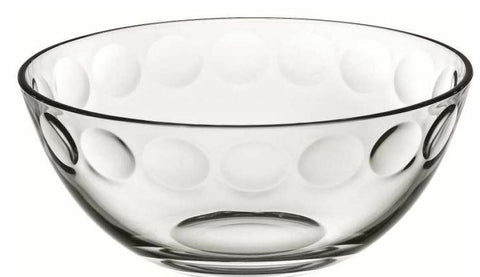 23.5cm Pois Bowl Glass Fruit Bowl Centrepiece Bowl Table Decoration