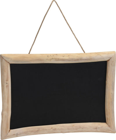 Large 70cm Teak Framed Message Board Retro Black Board Blackboard Retro Style