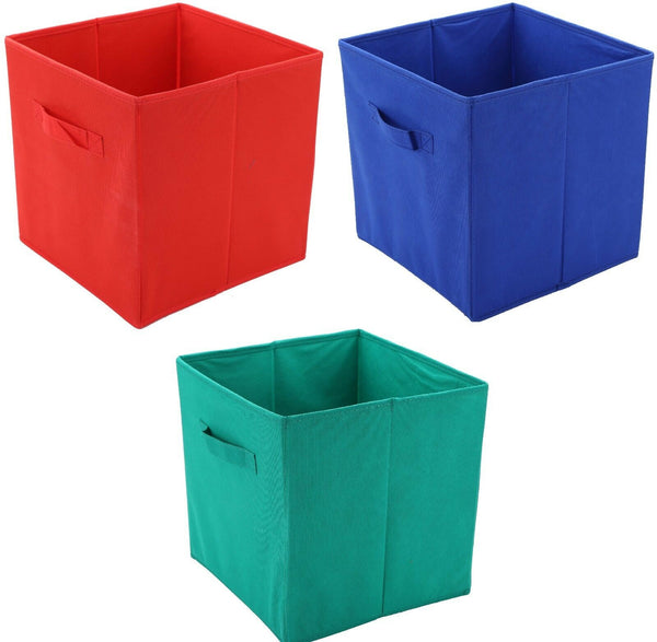 Non Woven Collapsible Storage Boxes With handles FOLDS FLAT