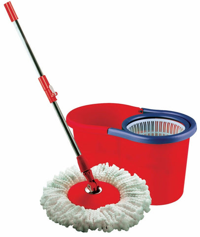 Wonder Mop Magic Mop With Bucket Red 360 Degree Spin Mop 12 Litres