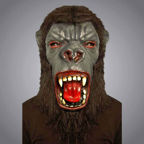 Adults Gorilla Latex Mask With Yellowing Teeth Unisex  Halloween Masks Dress