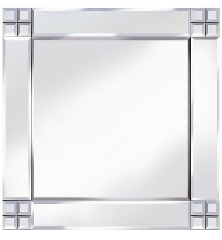Classic Cross Corner Mirror Square Wall Mirror 60cm x 60cm
