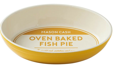 Mason Cash Baker's Authority Stoneware Oval Pie Dish Fish Dish Oven Oval Roaser