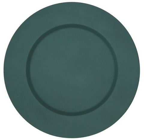 Set of 4 Light Blue Metal Charger Plates Under Plates Place Mats