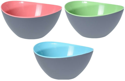 Large 3.4 Litre Plastic Mixing Bowls. In Pink Colour Green Or Blue Bowls