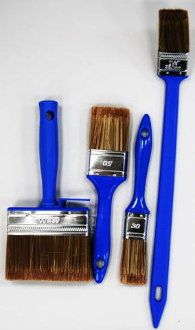 Set of 4 Paint Brush Set For Water Based Paint & Oil Based Paint Angled Brush