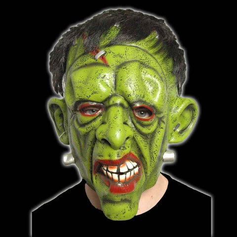Scary Adults Halloween Frankenstein Mask With Hair Fancy Dress Party Latex Mask