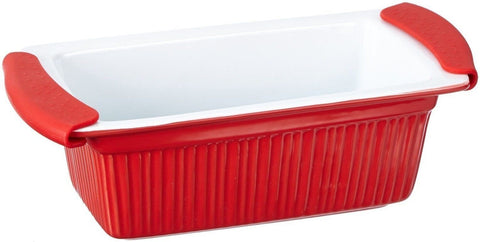 Bergner BG-1801044 Red Stoneware Rectangle Oven Baking Dish 1.4 Litres