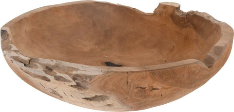 Solid Teak Root Wood Presentation Bowl. 40cm Handmade Centerpiece Bowl