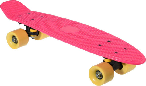 Ultimate Skategear 58cm Skateboard 23inch Pink With Yellow Wheels Complete