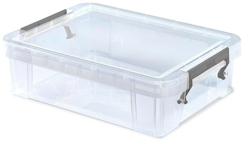 Small Craft Storage Boxes Clear Stackable With Clip Lid Storage Containers 2.3L