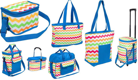 Bright Summer Beer Cooler Picnic Bags Insulated Picnic Hamper Trolley Beach Bags