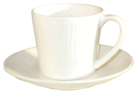 Set of 4 Viners Ripple Cup & Saucers Fine China Tea Coffee Cups