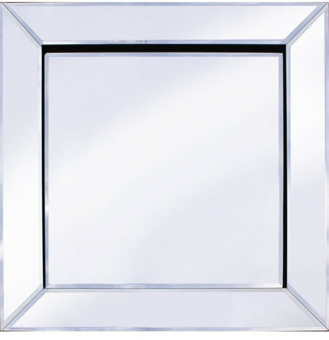 Square Wall Mirror 60cm x 60cm Classic Mitre Edge Beveled Edges