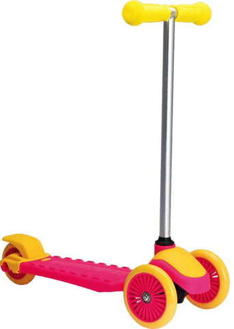 Junior Pink & Yellow 3 Wheeled Scooter For children Max Weight 50 KG