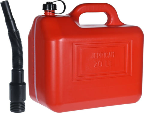 20 Litre Red Jerry Can With Funnel Made in Italy