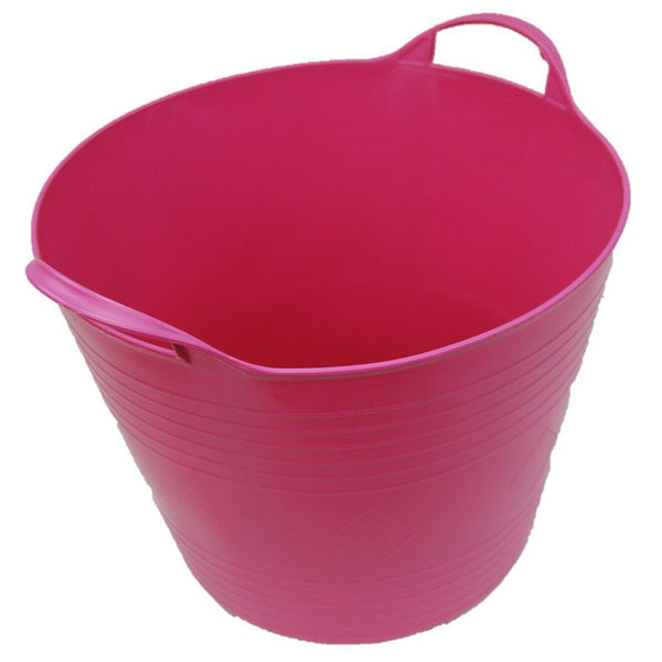 27 Litre Round Flexi Bucket Log Basket Strong Sturdy & Flexible With Handles