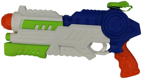 42cm Pump Action Water Super Soaker Shoots Up To 22 feet Blue & White