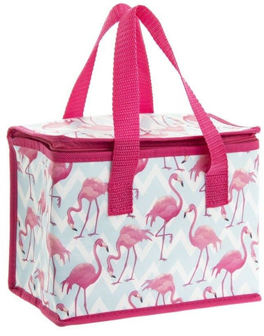 Leonardo Collection Flamingo Bay Pink Insulated Lunch Bags Pack of 2