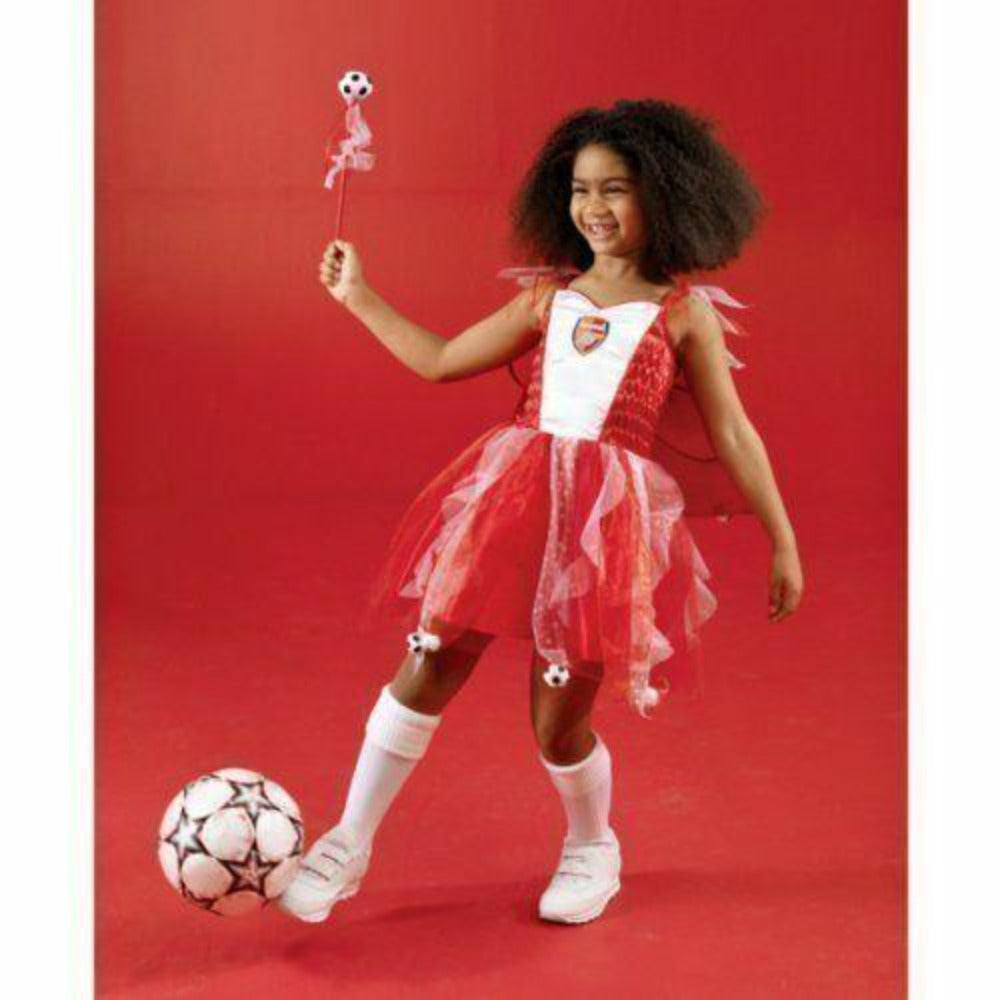 Girls Fancy Dress Arsenal Football Fairy Christmas Costume Cape size 2-3 Yrs