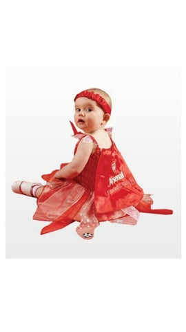 Baby Costume Fancy Dress Football Arsenal Fairy Outfit 12-24 Months