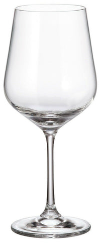 Bohemia Crystal Set of 6 Large Red Wine Glasses Strix Range 580ml