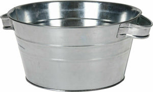 Zinc Tub With Carry Handles, For Planting Planter Large 13.5 Litre 39cm Diameter