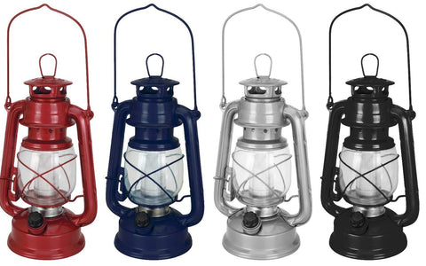 Ornamental Battery LED Gas Style Lantern Light 16 Led Metal Dimmable Hurricane