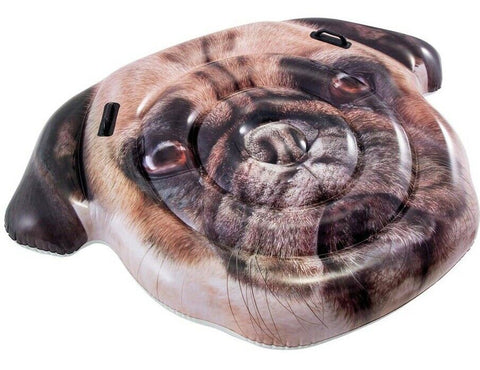 Intex Giant Swimming Pool Large Inflatable Float Dog Pug Face almost 6ft Float