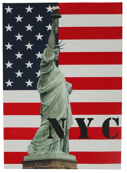 USA Statue Of Liberty Large Wall Canvas Print 70cm x 50cm