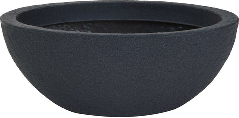 Very Large Oval Shaped Deep Planter Dark Grey Stone Effect Plant Pot Planters
