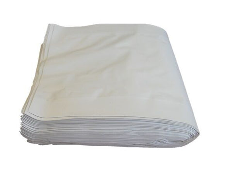 1000 x White Plastic Microwave Safe Hot Bag