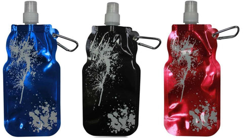 5 Sports Drinking Foldable Hydration Sports Water Bottles With Key Ring 500ml