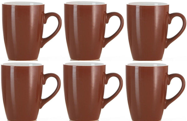 Ritzenhoff & Breker Of Germany Set of 6 Brown & White Coffee Mugs 300ml Capacity