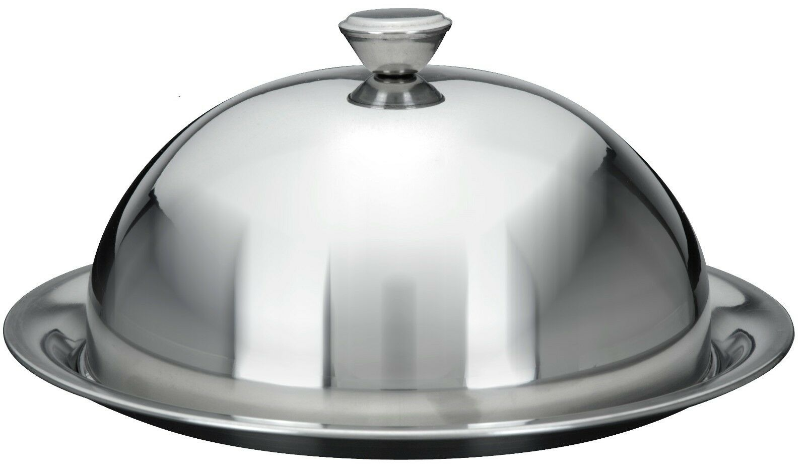 Stainless Steel Food Cover Cloche Plate Platter with Domed Cover Serving Dish