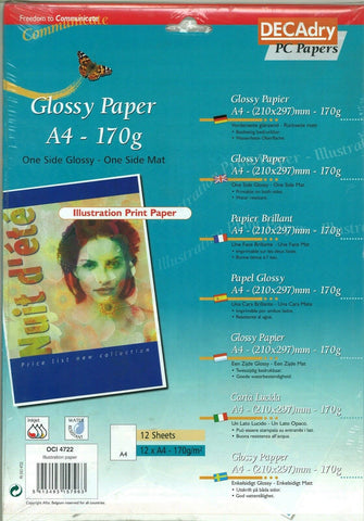 170 Gms Photo Paper. Pack of 120 Photo Paper. Gloss & Matt Photo Paper