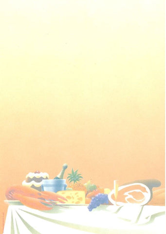 Decadry OPF-3521 Gastronomy Themed Letterhead A4 Paper