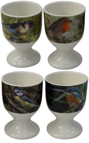 Leonardo Collection Fine China Set  4 Egg Cups Wildlife Bird Collection Design