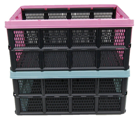 32 Litre Collapsible Crate Collapsible Strong Plastic Boxes Stackable Foldable