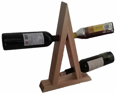 RTA 6 Bottle Natural Pine Wooden Floating Wine Rack Magic Wine Bottle Holder