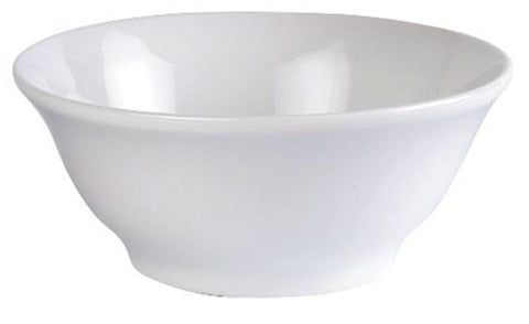Vallier White Porcelain Trendy Tableware Salad Serving Bowl 1.15 Litre 19cm