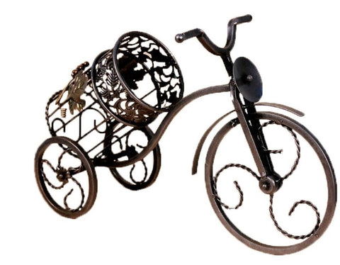 RTA Stylish Iron Bicycle Wine Bottle Holder Countertop Wine Bottle Holder